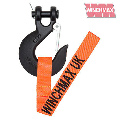 "Winchmax Winch Black Hook - 3/8"" Clevis Hook - Suitable For Winch Up To 14,000Lb"