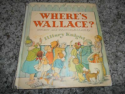 Vintage 1964 Where's Wallace? 1st ed Hilary Knight Hardcover Children's Book