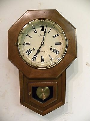 Vintage Spiegel And Company Fine Mahogany Wall Clock Clean And Running Fine