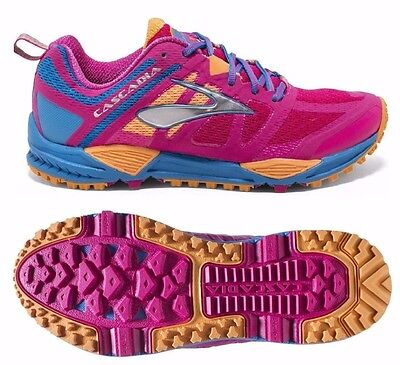 Womens Brooks Cascadia 11 Road Running Jogging Shoes Trainers Size UK 6.5 9 B