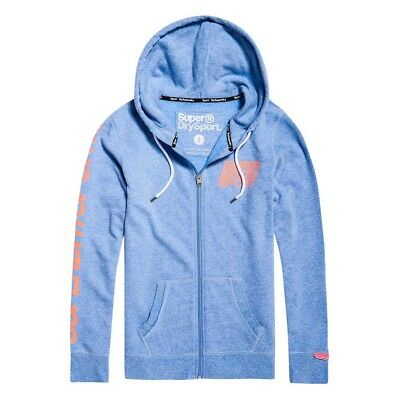 Superdry Sd Sport Essentials Ziphood XXS Light Cobalt Marl Chaquetas