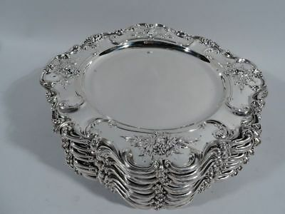 Redlich Chargers - 4389 - 12 Antique Dinner Plates - American Sterling Silver