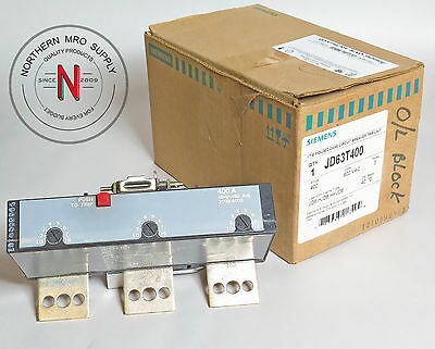 Siemens Jd63T400 Circuit Breaker Trip Unit, 400A, 600Vac, 3-Pole