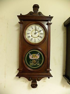 Vintage Extra Fancy High Quality Mahogany Wall Clock Clean And Running Fine