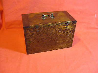 Lovely Antique Victorian Candles Oak Box