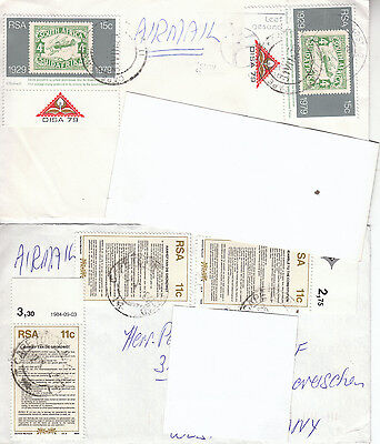 South Africa - 2 covers - 2 Briefe (1007)