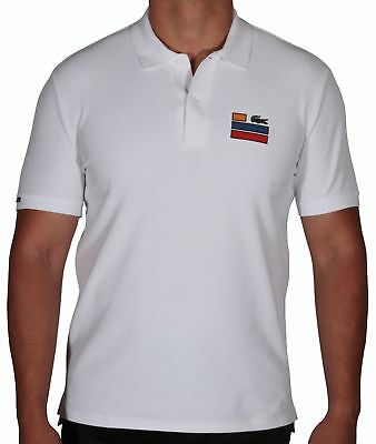 e91f0121 LACOSTE MEN'S SHORT Sleeve Chest Embroidery Polo Shirt Slim Fit PH2054 001  White