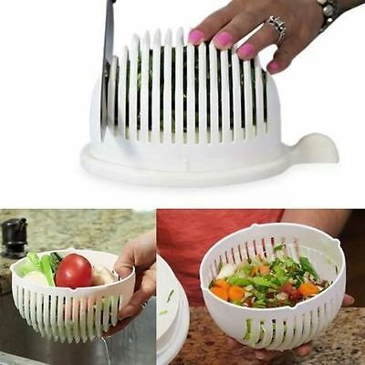 Hot Salad Cutter Bowl Maker Made Healthy Fresh Salads Easy 60 Second Tool Slicer