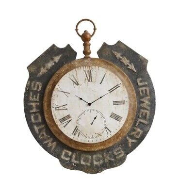 Historic Jewelry Pocket Watch Clock Antique Replica Wall Advertising Sign