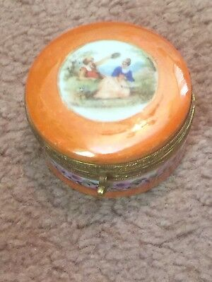 Antique Vintage Porcelain Trinket Jewelry Box Made In Germany! Victorian!