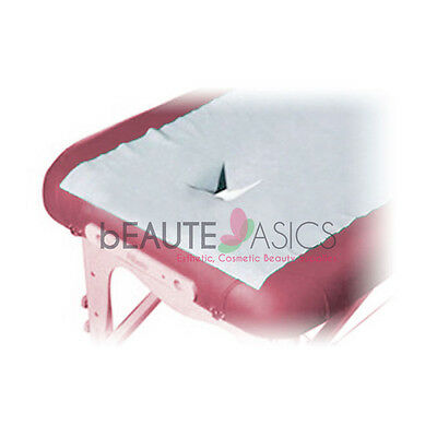 "100 Disposable Face Recess Covers Massage Table Sheets 78""x31"" - #BD1215 x10"