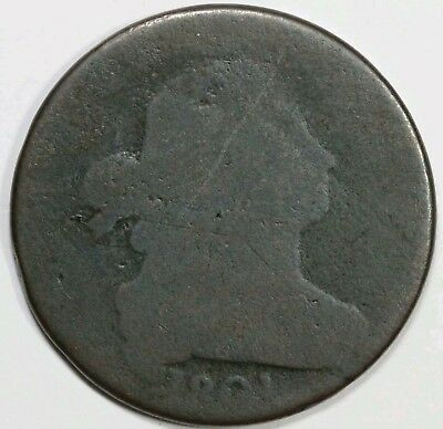 1801 Large Cent 3 Error. Circulated