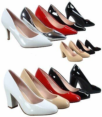 Women's Fashion Pointed Round Toe High Heel Dress Classic Pumps Size 5 - 10 NEW