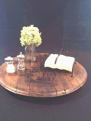 Whiskey Barrel Head Lazy Susan Your Choice Of Brand Logo 14995