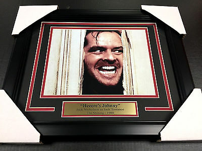 The Shining Jack Nicholson Framed 8X10 Photo  Heere's Johnny