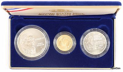 1993 United States Bill of Rights 3-Coin Uncirculated Mint Set w/ Box & COA