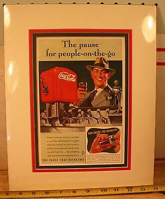 Coca Cola add 1941 The Pause for people on the go - Matted