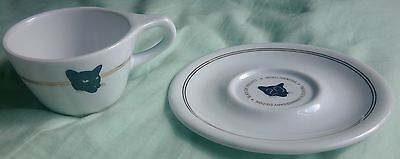 Rare Black cat Project intelligentsia 20th anniversary tea coffee cup and saucer