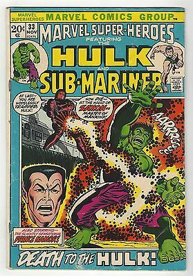 Marvel Super-Heroes 33! Gd+ 2.5! Hulk! Cool Bronze Age Marvel!
