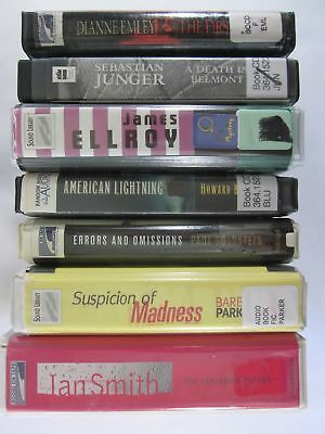 Lot of 7 Mixed Fiction Mystery Thriller and Suspense Audiobooks on CD