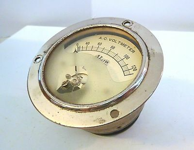 Beautiful Ornate Victor AC Voltmeter Works Well!