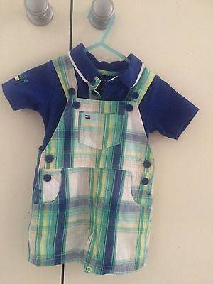 Tommy Hilfiger baby boy polo and overall set