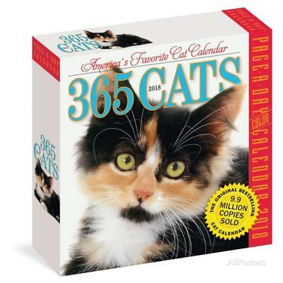 365 Cats Color Page-A-Day - 2018 Boxed Calendar Calendars - 6x6