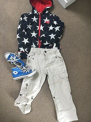 Penny scallan boys jacket coat country road pants  size 6 converse shoes size 13