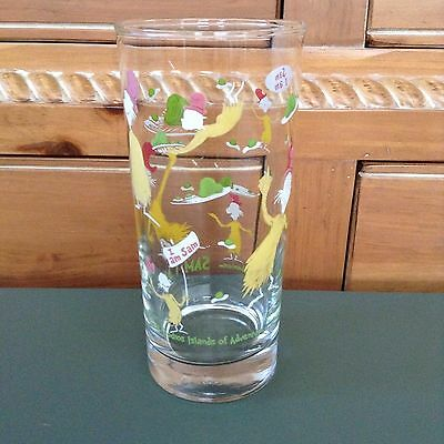 """Dr. Seuss """"Green Eggs and Ham"""" Drinking Glass Tumbler Sam I Am Nice Condition!"""