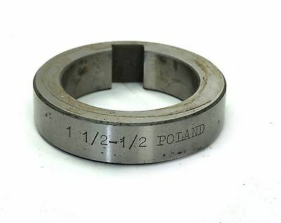 "Poland 1 1/2"" X 1/2"" Milling Machine Tool Arbor Spacer Keyed"