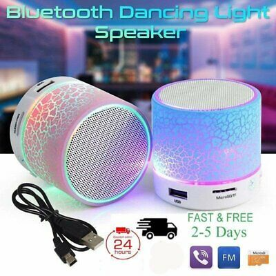 LED Portable Mini Bluetooth Speaker Wireless Bass Speaker With TF USB FM Radio