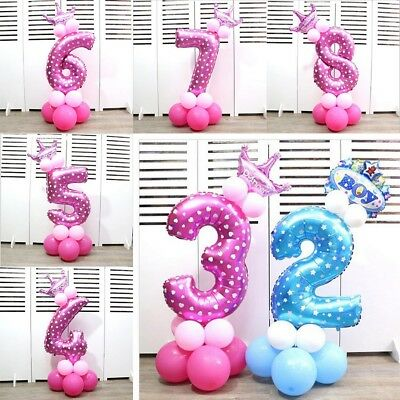32 inch Number Foil Balloons Digit Helium Ballons Birthday Wedding Party Decor