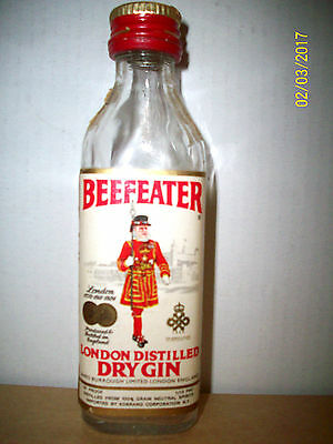 Old Collectable Mini Beefeater Dry Gin Bottle - Empty