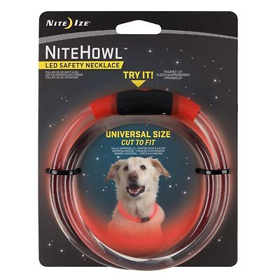 "Nite Ize NiteHowl LED Safety Necklace Red Dog Collar 12""-27"" Weather Resistant"