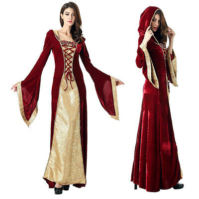 Medieval Renaissance Celtic Queen Gown RPG Cosplay Fancy Dress Costume 2017 Hot