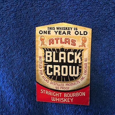 Black Crow Whiskey Label- Chicago !!
