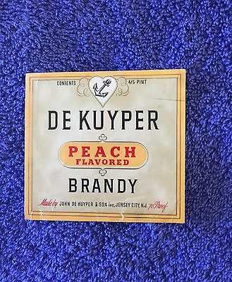 De Kuyper Brandy Label-Jersey City, New Jersey!!