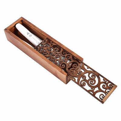 4 Style Retro Hollow-carved Pen Pencil Case Stationery Beads Wooden Storage Box