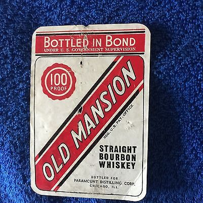 Old Mansion Whiskey Label- Chicago!!