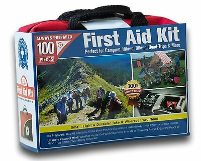First Aid Kit Small 100 Piece Car Home Survival Kits Gauze Camping Outdoor