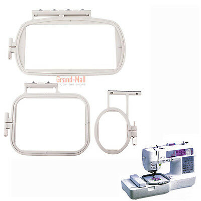 3Pcs Embroidery Hoop Set For Brother Embroidery Machines SE400 PE500 LB6800