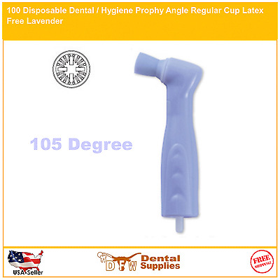 100 Disposable Dental / Hygiene Prophy Angle Regular Cup Latex Free Lavender