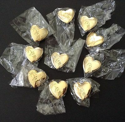 Disney Pin GOLD HEART Arm and Wand 2001 Variety Club LOT OF 10 New in bags
