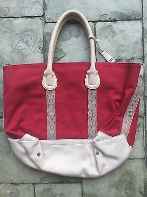 Oroton Signature & Leather Large Tote Bag Excellent Cond
