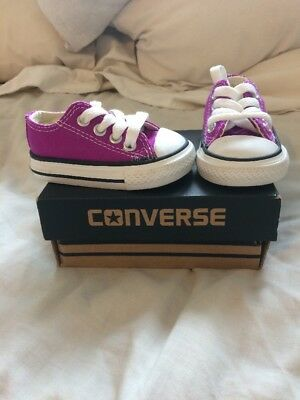 BNWB baby Girl Converse Size 2