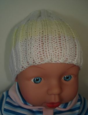 Hand Knitted Baby Beanie for Small Premmie Baby