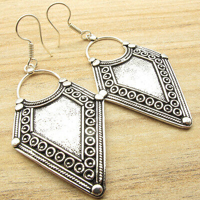 ANCIENT STYLE JEWELRY !!! HANDMADE Earrings ! 925 Silver Plated ONE OF A KIND