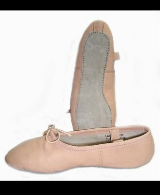 Girls Leather Ballet Shoes Size 12