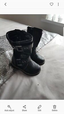 baby leather boots size 3