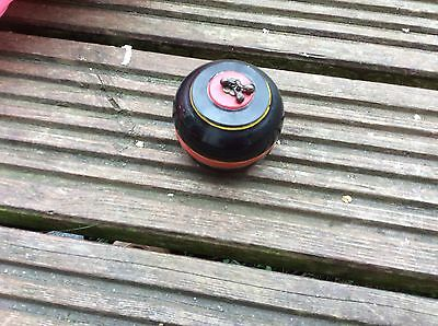 antique/vintage black red small round box